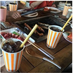 Paille à boire en bambou