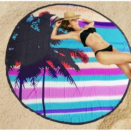 Serviette de plage ronde